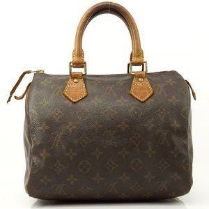 Auth Louis Vuitton Speedy 25 Satchel Bag #4015L81
